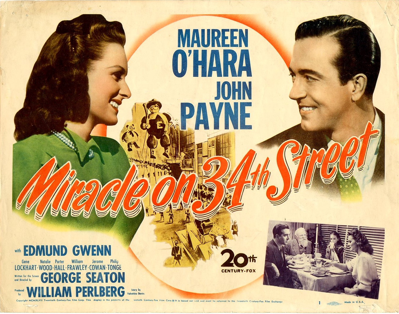 MIRACLE ON 34 th. STREET (1947) WEB SITE