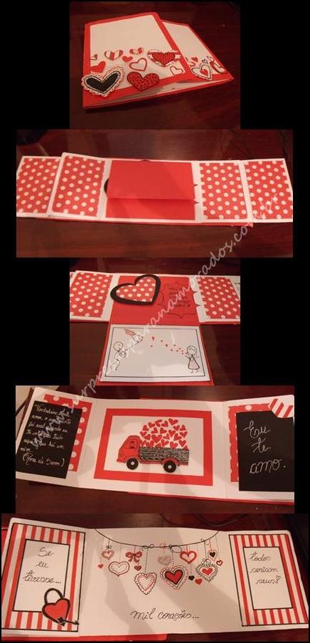 cartão scrapbook para namorado