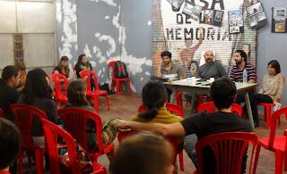 de izq a der: Mauro (Colectivo), Beto Olivares, Lisandro Brusco, Vanesa Orieta