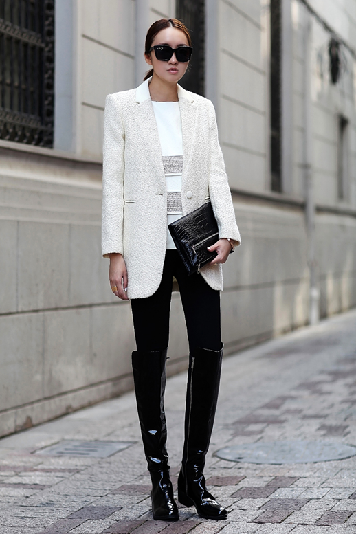 MY FASHION TRICKS White blazer!