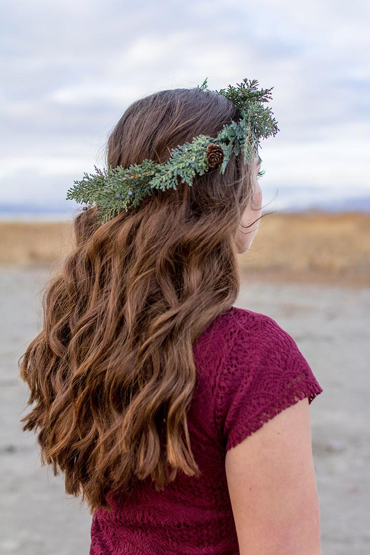 winter pine crown