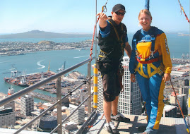 Louise Jumping off the Sy Tower Auckland NZ