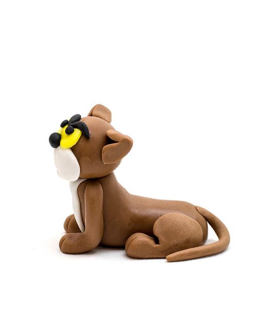 Smurfs cat Azrael fondant figurine Azrael iz sladkorne mase iz strani
