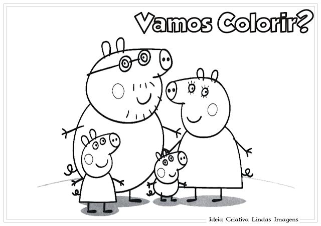 Peppa desenho para colorir