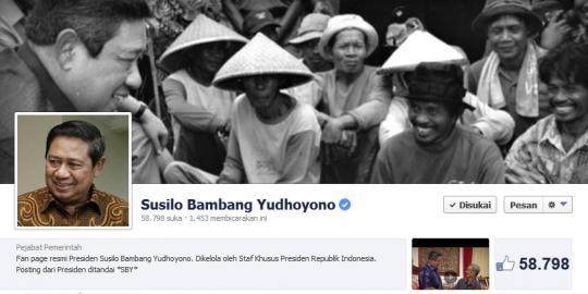 Akun Facebook Presiden SBY