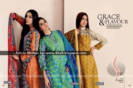 Gul ahmed lawn magazine catalog catalogue 2015 2016 she9