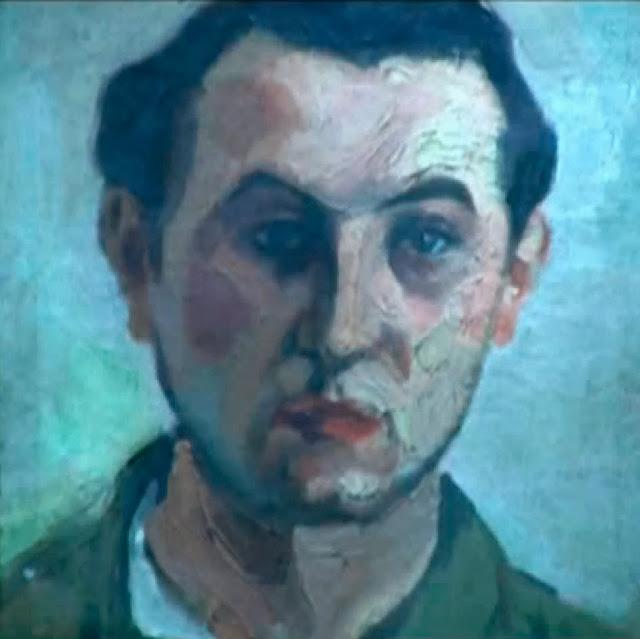 Autorretrato figurativo Santiago Lagunas