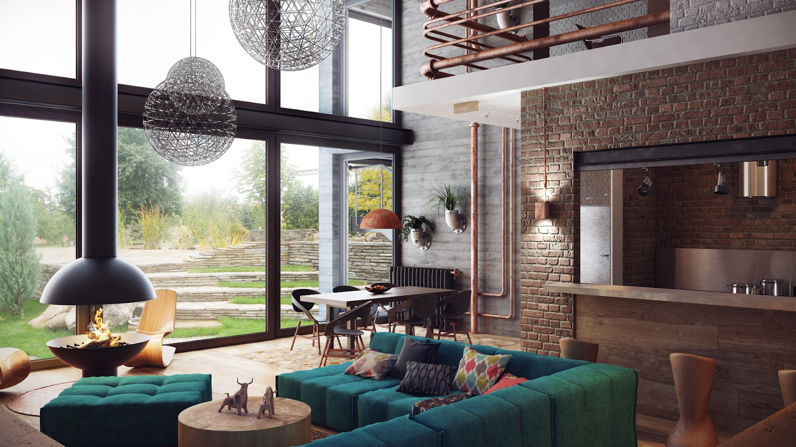 ruang+tamu+modern Desain Rumah Modern Dari Karya Brilian Arsitektur Uglyanitsa Alexander