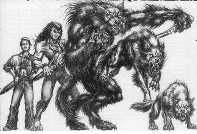les cinq formes du loup-garou