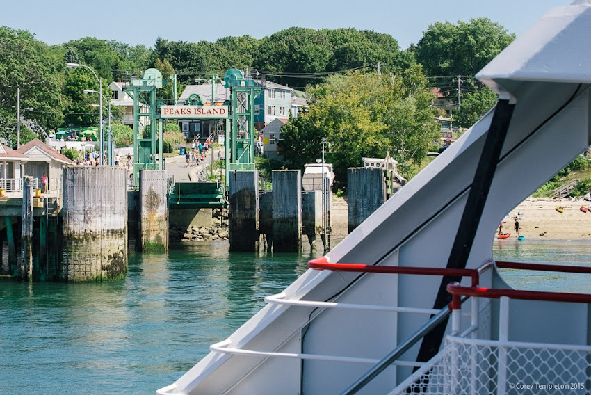 Departing Peaks Island on a Casco Bay Lines ferry Portland, Maine September 2015 Photo by Corey Templeton.