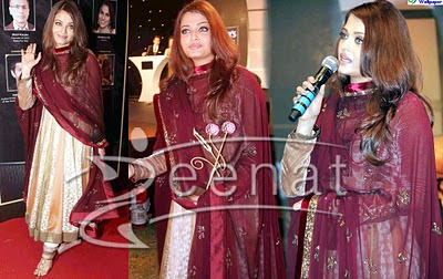 Aishwarya Rai in Anarkali Churidar