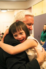 Governor Tom Corbett visits his friend Chloe