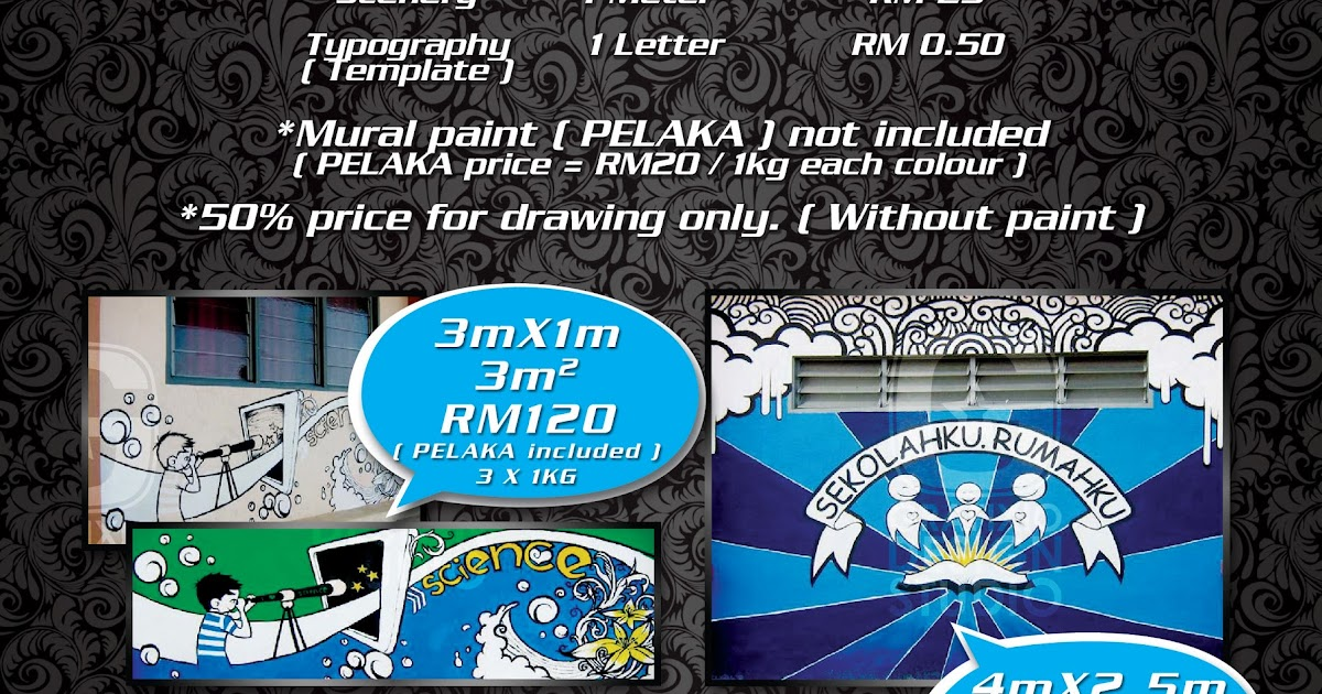 Grafixio mural painting price for Mural sekolah