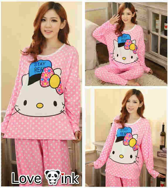 Pyjamas Hello Kitty Stay Real.Love Ink.