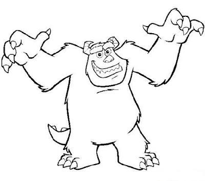 Personajes de Monsters Inc para colorear y pintar ~ Colorea el dibujos