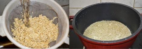 preparations to cook quinoa