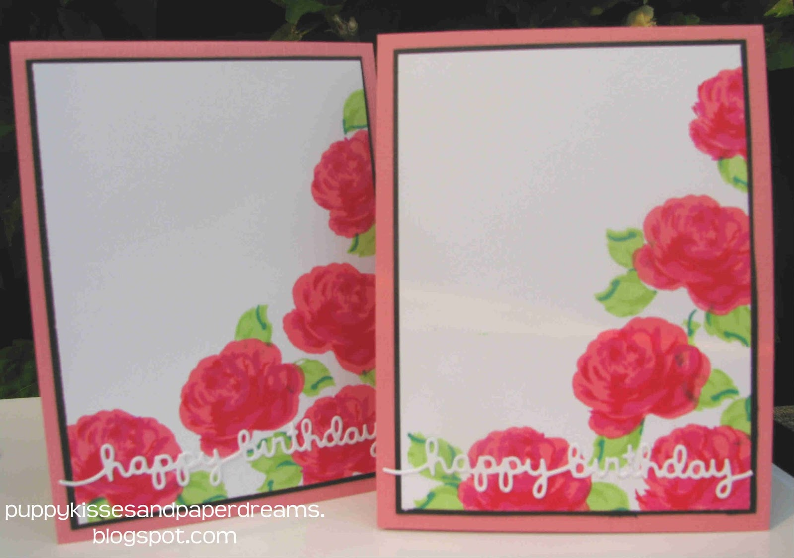 Puppy kisses and paper dreams birthday flower cards 08292015 i dont often make duplicates of cards but i wanted to make several of these cards so i had some birthday cards for my peeps lets say hello shall we izmirmasajfo
