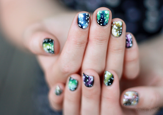 galaxy nebula nail art