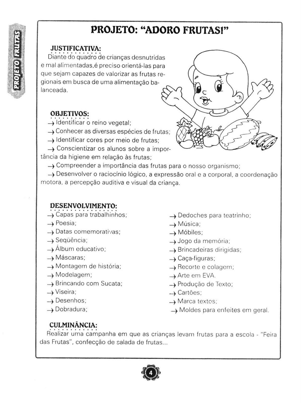 Suficiente ESPAÇO EDUCAR: Projeto Adoro frutas para a educação infantil CS11