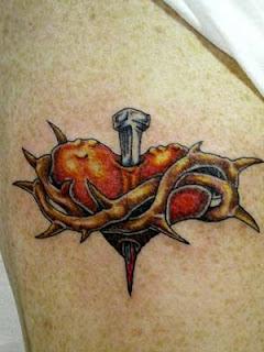 Sacred Heart Tattoos for girl on their arm