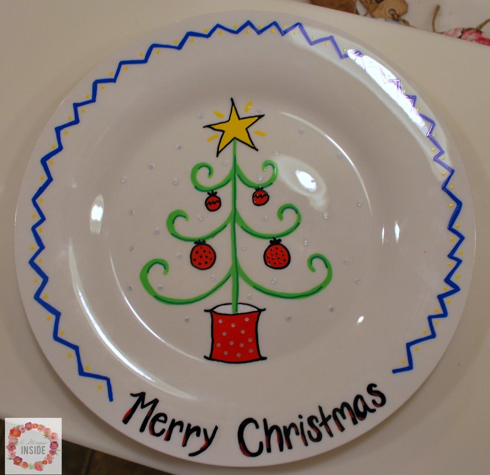 A Glimpse Inside Diy Holiday Plates