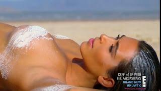 حصرياً! كيم كارداشيان تتعرى في صور ساخنة جداً على شاطىء البحر!