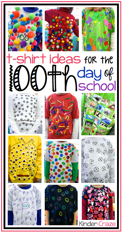 t-shirt ideas for the 100th day of school