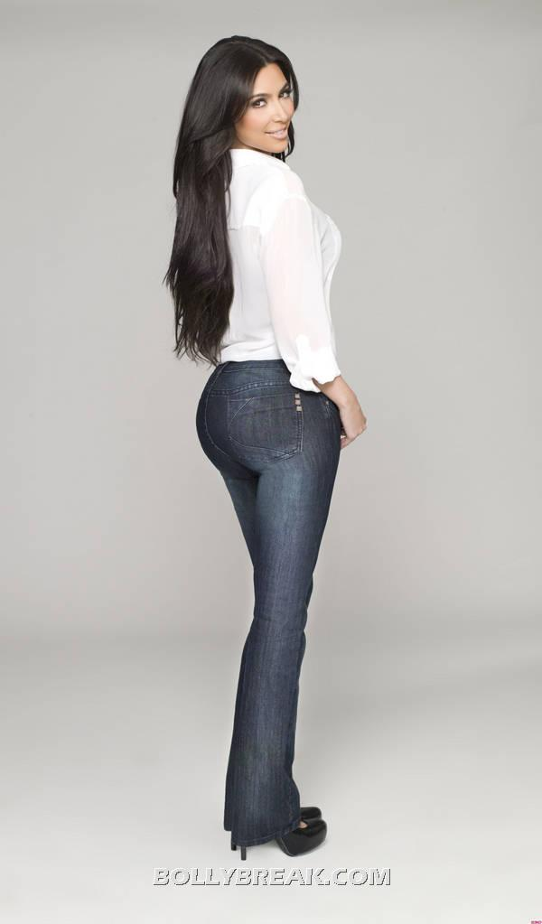 Kim Kardashian hot jeans pic -  Kardashian Kollection Jeans 2012