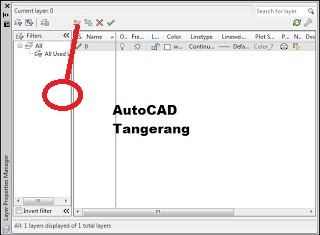 Membuat Layer dalam AutoCAD.