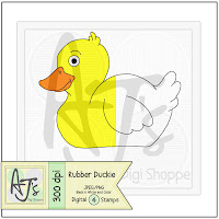 Rubber Duckie Toy Digital Stamp