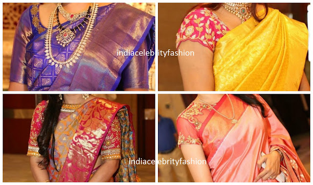 4 Different blouse ideas for silk sarees