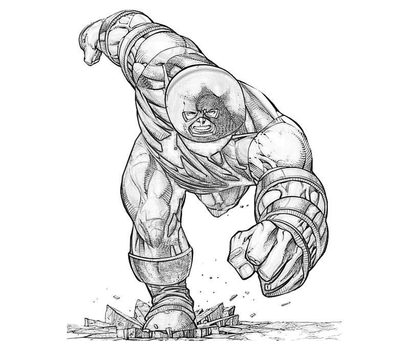 marvel juggernaut coloring pages - photo#6