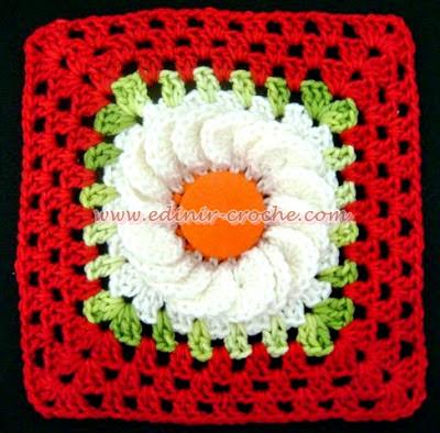 square em croche da coleção aprendi e ensinei com edinir-croche dvd video-aulas blog loja frete gratis