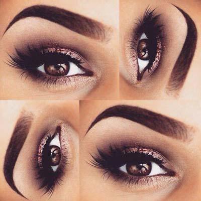 applying eye makeup  natural eye makeup ideas for women