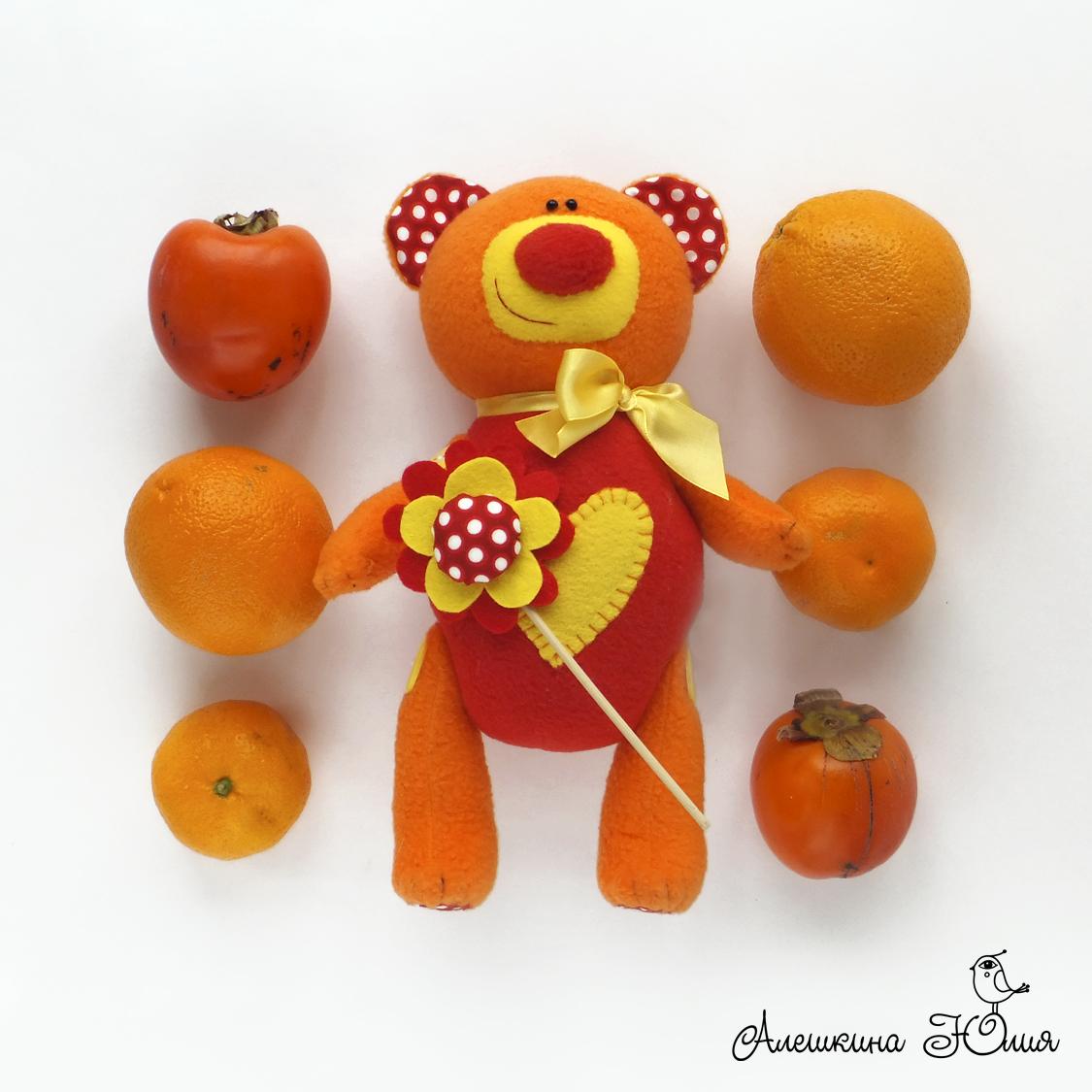 медвежонок игрушка из флиса