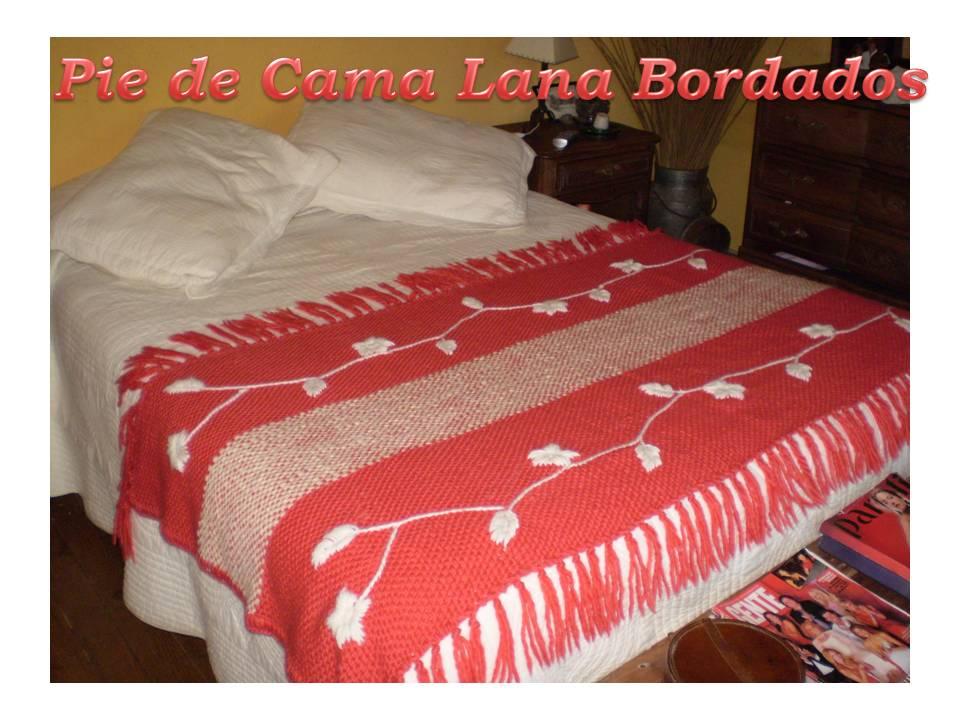 Mantas y pie de cama de lana bordados - Mantas pie de cama ...