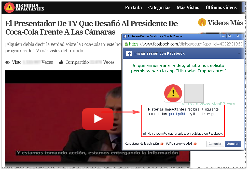 SPAM: Historias Impactantes en Facebook - MasFB