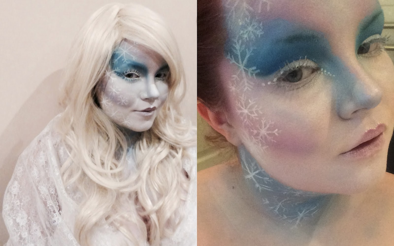 ice queen makeup look, annabelle's wigs, shemightbeloved
