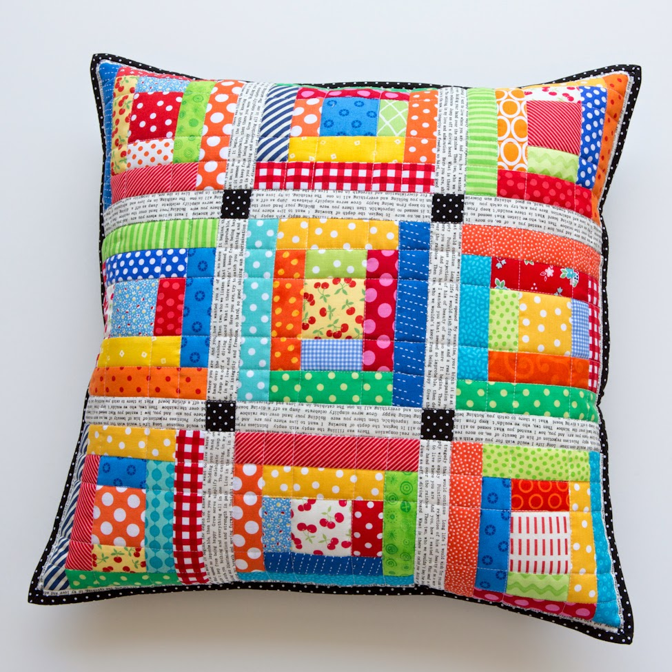 Quilting Ideas For Pillows : .: Scrappy Quilted Patchwork Pillows