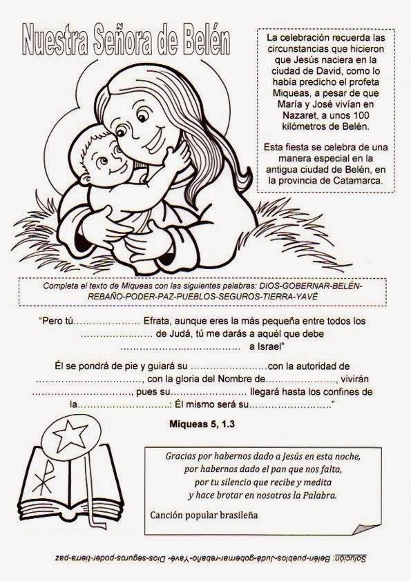 El Rincón de las Melli: Nuestra Señora de Belén
