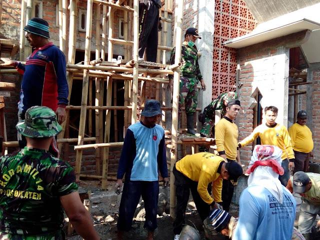 Koramil dan Polsek Plosok Klaten Bantu Pembangunan Masjid
