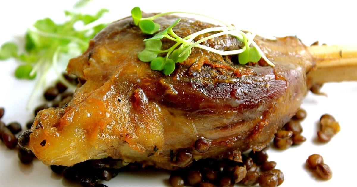 Braised Lamb Shanks And Lentils Recipe — Dishmaps