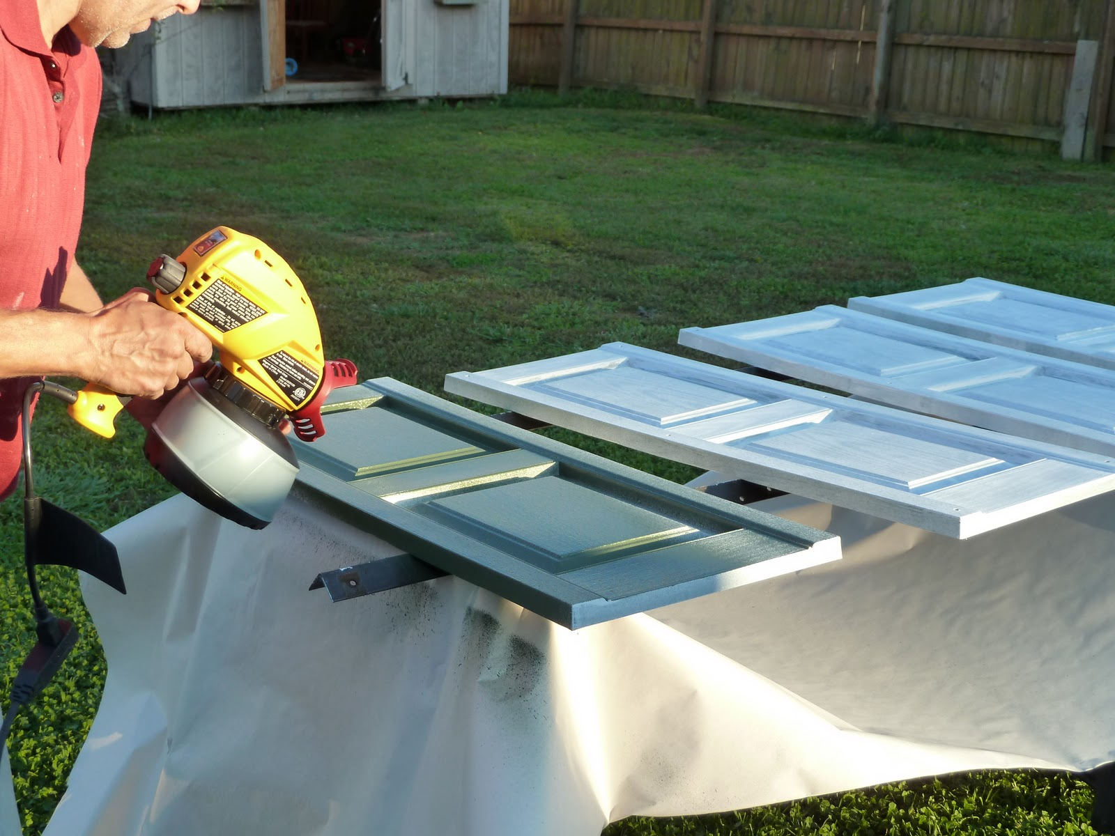 Guest Post Spray Painting Shutters My Repurposed Life 174