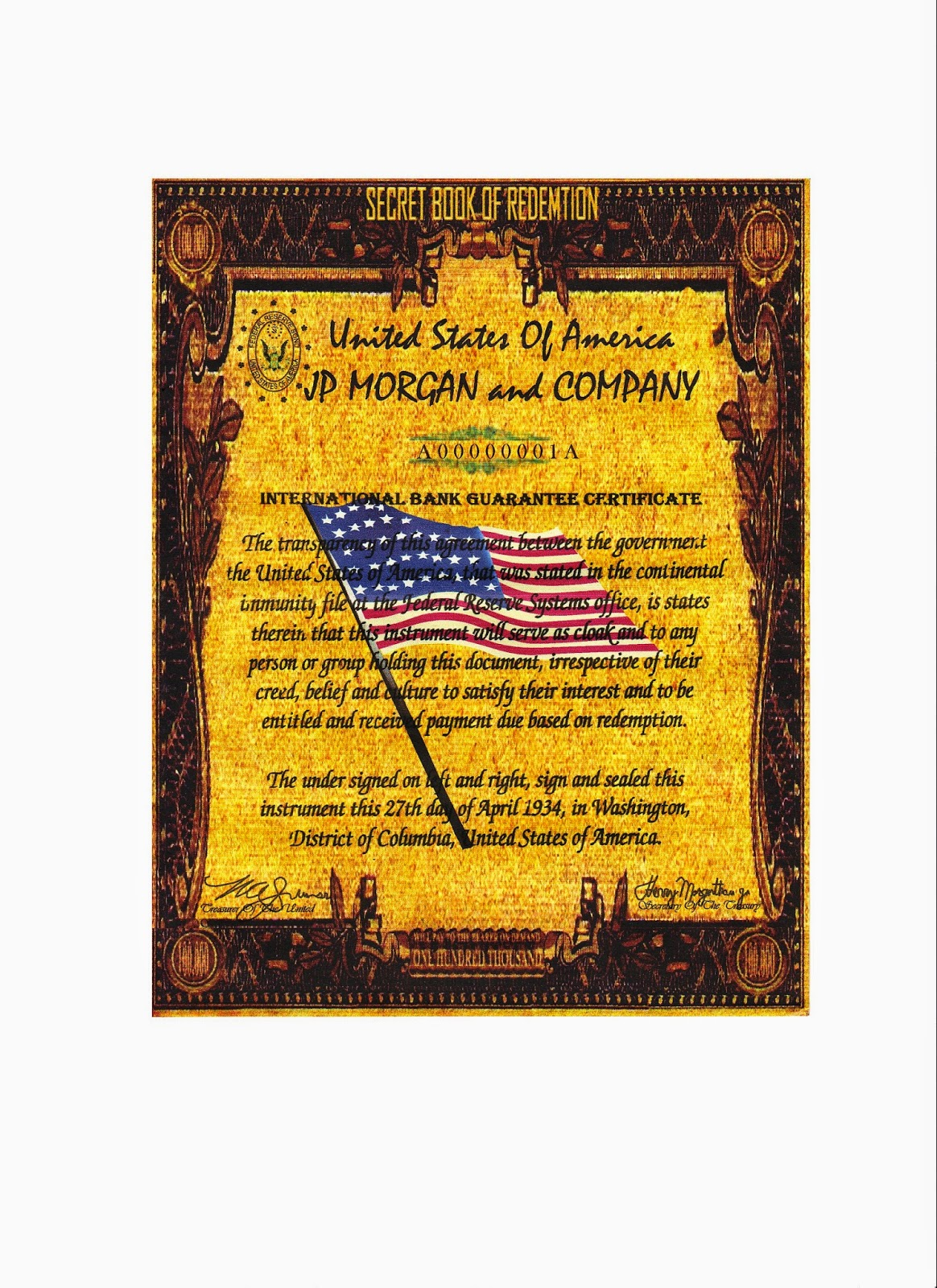 Some interesting facts about paper money 100000 gold however if you are still convinced that what you have is real then you must turn it over to the u s department of treasury the note never distributed xflitez Choice Image
