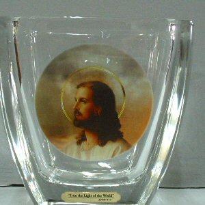 Jesus Light of the World Vase
