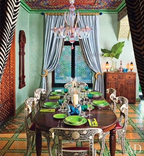 تصميمات رائعه لغرف المعيشه المغربيه  Exquisite-moroccan-dining-room-designs-2