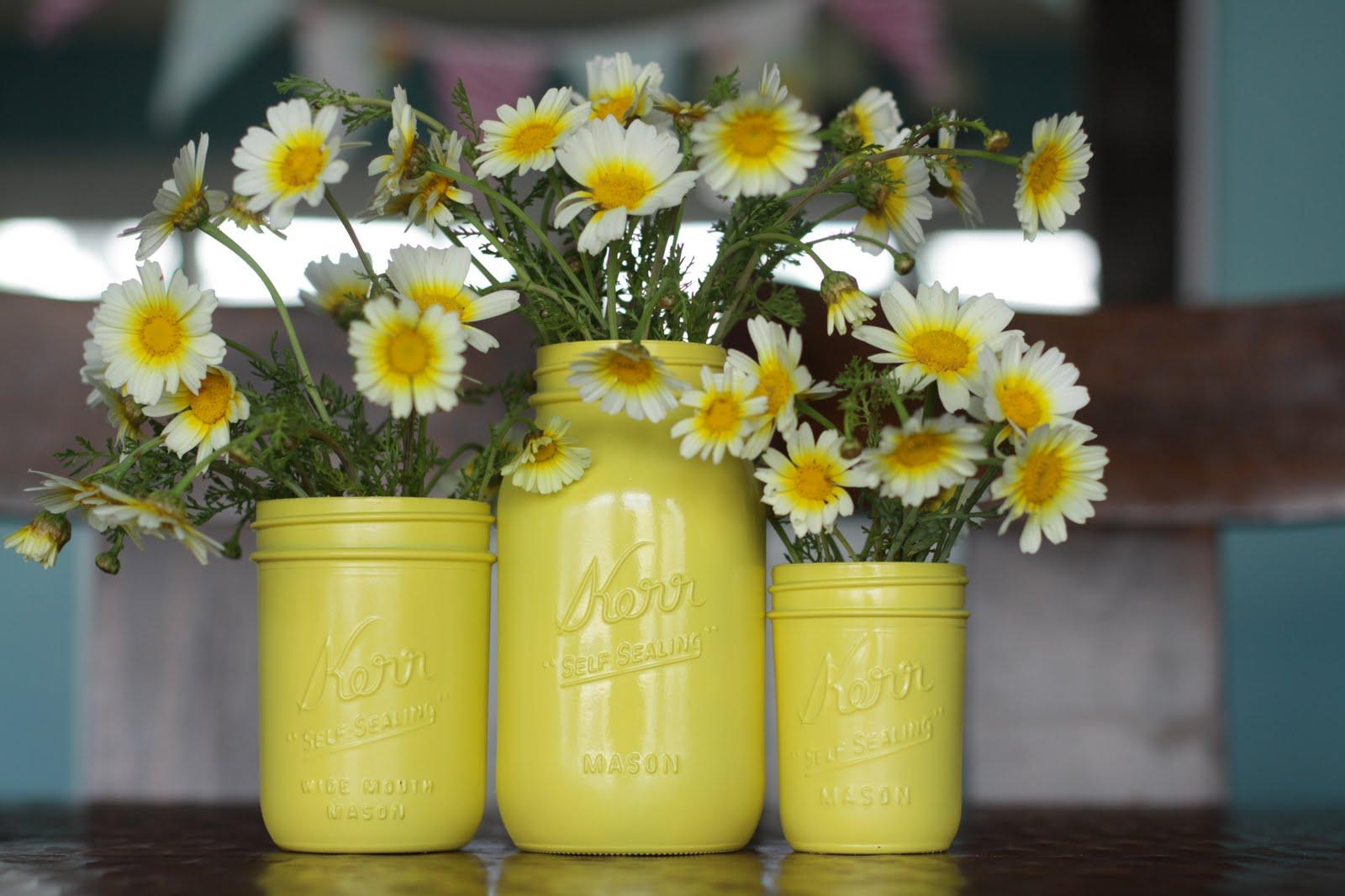 Painted Mason Jars Ode To Spray Paint Joys Hope