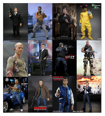 Figurines de bad boys, héros de séries ou films policiers au 1/6