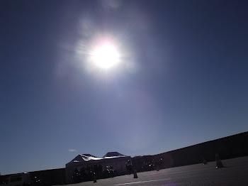 Sol em pleno inverno. Veio abençoar o curso de pilotagem Porto Seguro Seguros.