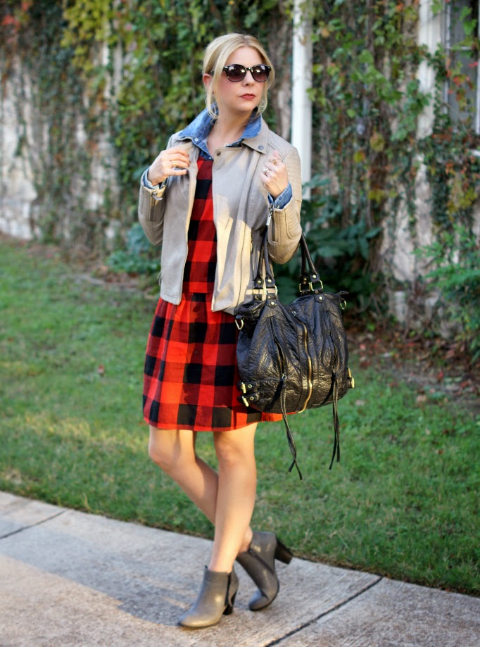 Buffalo Plaid Drop Waist Dress from Old Navy